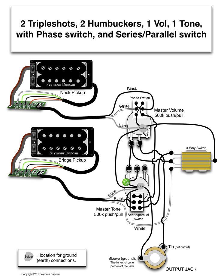 双线圈拾音器常用电路图 之一