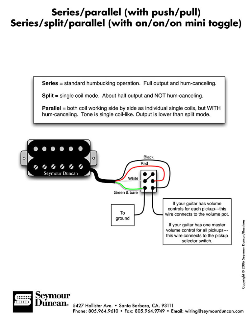 Stunning Seymour Duncan Coil Tap Images - Images for image wire .  sc 1 st  gojono.com : coil tap wiring - yogabreezes.com